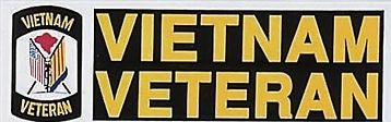 Vietnam Veteran Bumper Sticker