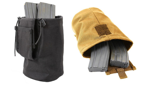 MOLLE Roll-Up Utility Dump Pouch - Black or Coyote Brown Folds up