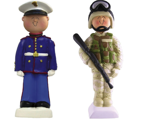 Soldier or Marine Holiday Christmas Tree Ornament