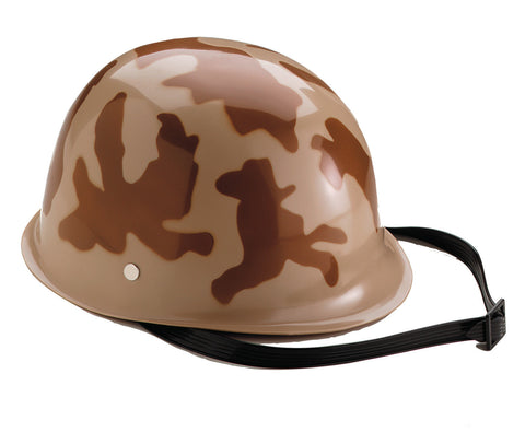 Kids' Camouflage Army Hemet - Desert Camouflage - Includes Chinstrap