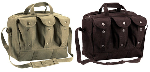 Military Type Medical Equipment / Mag Bags - Canvas Compact Ammo Medics Bag Pack