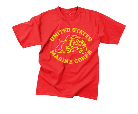 Vintage Red U.S. Marine Bulldog T-Shirt
