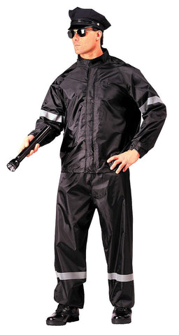 Hi Visibility Reflective Police Security Hi-Vis 2-Piece Rainsuit Nylon S - 3XL