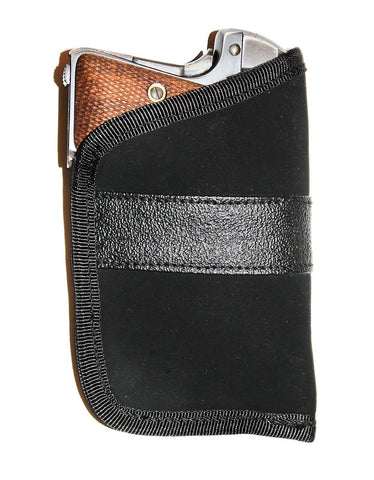 "Black Pocket Weapon Holster Polyester Open-Top Design Compact Holsters 3"" x 5"""