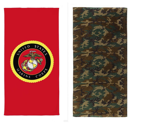 Military or Camouflage Towels - Marines, Army, Camo Beach Towles