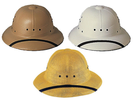 Military Type Pith Helmet Safari Sun Hat Adult Waterproof 1 Size Fits US Made