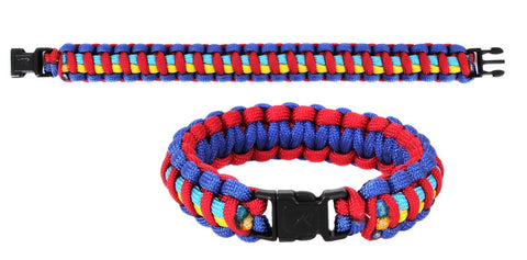 Autism Awareness Paracord Bracelet Armband Wristlet - Blue,Red,Yellow,Aqua
