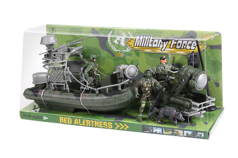 Kids Military Force Amphibious Play Set - Woodland Camouflage - 6 Piece Playset