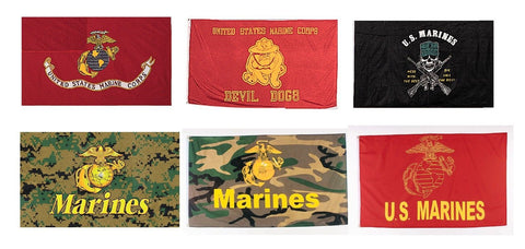 Marine Corps Flags USMC Military Patriotic Camo Veteran USA Flag - 3' x 5'