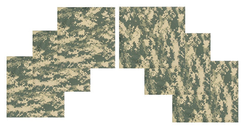 "6 PACK ACU Digital Bandanas Six LARGE 27"" Cotton BIG Biker Camouflage Headwraps"