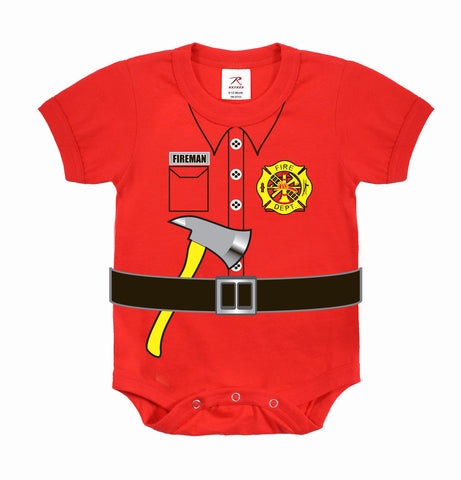 Red Baby Fireman Firefighter One-Piece - Infant - Sizes: 3 Months to 3T
