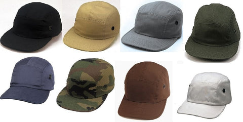Military Street Caps - Urban Military Hats - Black, OD, Brown, Navy, Khaki,White