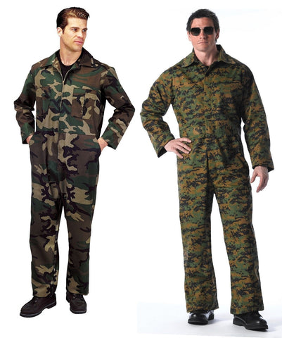 Military Unlined Coveralls - Great For Paintball Or Airsoft - Wood Camo/Digital