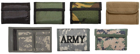 Commando Army Wallet - Military Style - Black Camo ACU or Woodland Digital