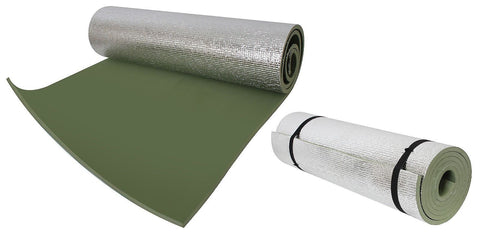 Thermal Reflective Sleeping Pad w/ Ties OD Roll-Out Sleep Padding Retains Heat