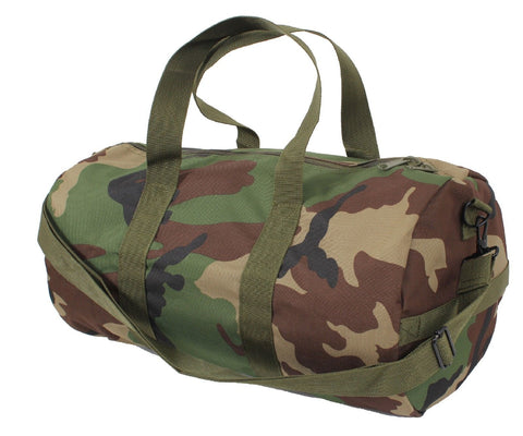 Woodland Camouflage Shoulder Bag Camo Polyester Gym Duffle Messenger Bags
