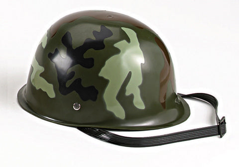 Kids' Camouflage Army Hemet - Woodland Camouflage - Includes Chinstrap