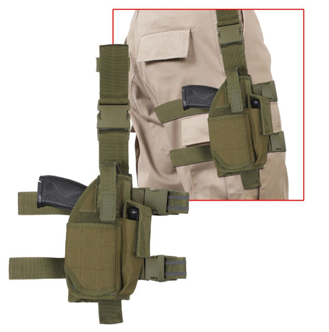 Adjustable Drop Leg Holster Olive Drab Tactical Concealed Thigh Holsters
