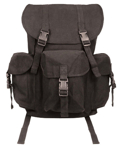 Black Canvas Outfitter Backpack Rucksack - Hiking Camping School Bookbag