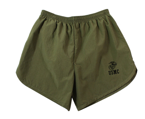 Olive Drab Physical Training U.S.M.C. Shorts - G.I. Type  USMC Shorts