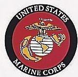 United States Marine Logo Window Decal with Back Gum 3 Inch
