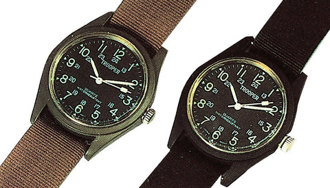 Military Style SWAT Field Watch Black or OD Water Resistant Wristwatch Watches