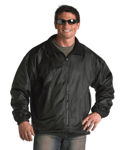 Black Fleece Lined Nylon Jacket Reversible - Waterproof Outer Shell