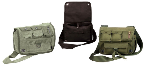 Venturer Shoulder Bags - Military Canvas Urban Explorer Compact Messenger Bag