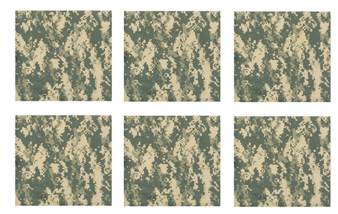 "ACU Digital Camouflage Camo Bandana 6 PACK 22"" Cotton Bandanas Biker Dog Scarf"