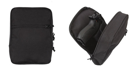 Black MOLLE Concealed Carry Pouch - with Zipper