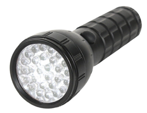 "Black 28-Bulb LED Flashlight - Rothco LED Flash Light - 5.5"" Super Bright"