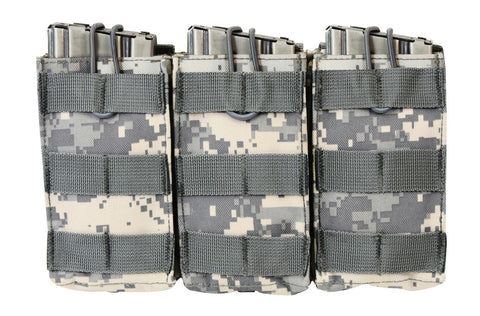 Triple Mag Pouch MOLLE Open Top Triple Magazine ACU Ammo Pouches