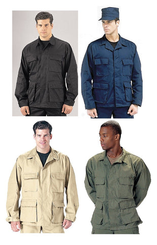 Military BDU Shirts - Black, Navy Blue, Khaki, OD B.D.U. Shirts Tops