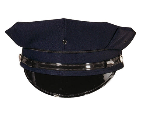 8 Point Navy Blue Police / Security Cap With Sweatband