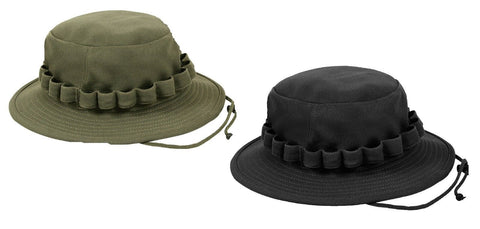 Moisture Wicking Boonie Hat Black & OD Coolweight Breathable Vented Bucket Hat