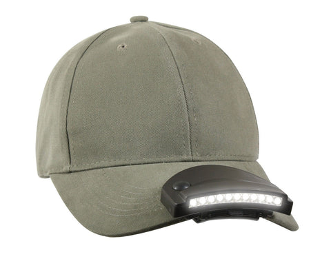 Ultra Bright 11-LED Cap Hat Light - Attaches to Your Hat! Batteries Included
