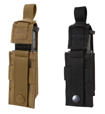 MOLLE Single Pistol Mag Pouch w/ Insert - Black or Coyote Brown - 9mm & .40 Cal