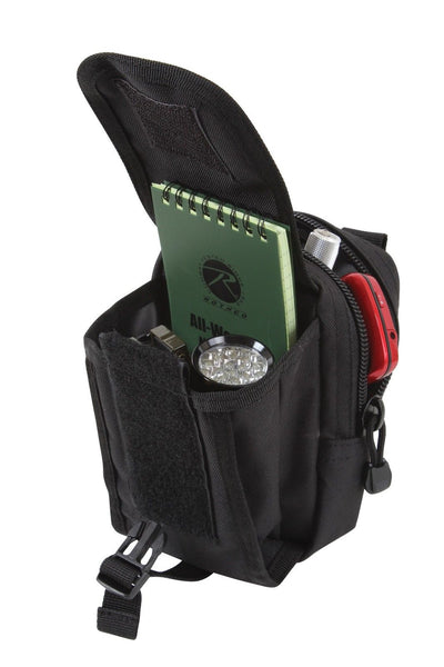 Molle Compatible Accessory Pouch Black Military Travel