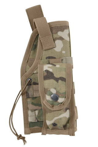 MultiCam MOLLE Tactical Holster - Front Clip Thumbsnap Pouch