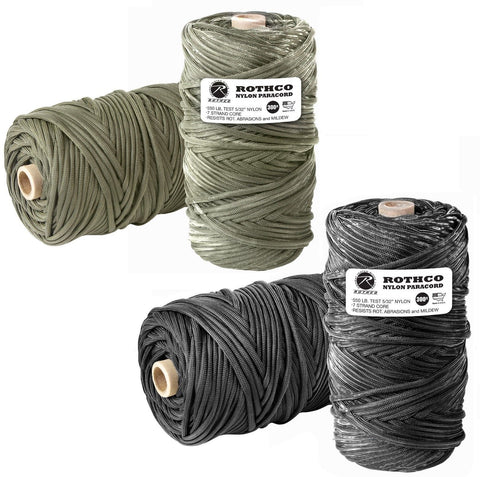 300' Paracord Available In Black Or Olive Drab - 100% Nylon Made In USA