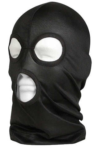 Black Lightweight 3 Hole Face Mask for Cold Winter Head