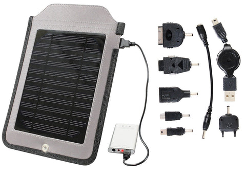 Multi Function Solar Charger Panel Mobile Cell Phone iPhone iPod - Attach to Bag