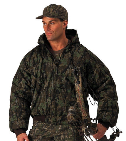 Smokey Branch Camo Heavy Weight Insulated Hooded Jacket/Hunting Camouflage Gear