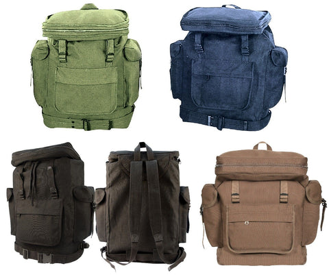 European Style Rucksacks - Canvas Backpack Schoolbag Camping Hiking Outdoor Bags