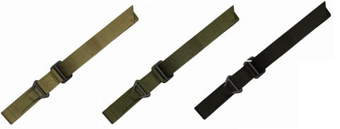 Condor Rigger Belt - Nylon Webbing, Forged Steel Buckle - Coyote Tan Olive Black