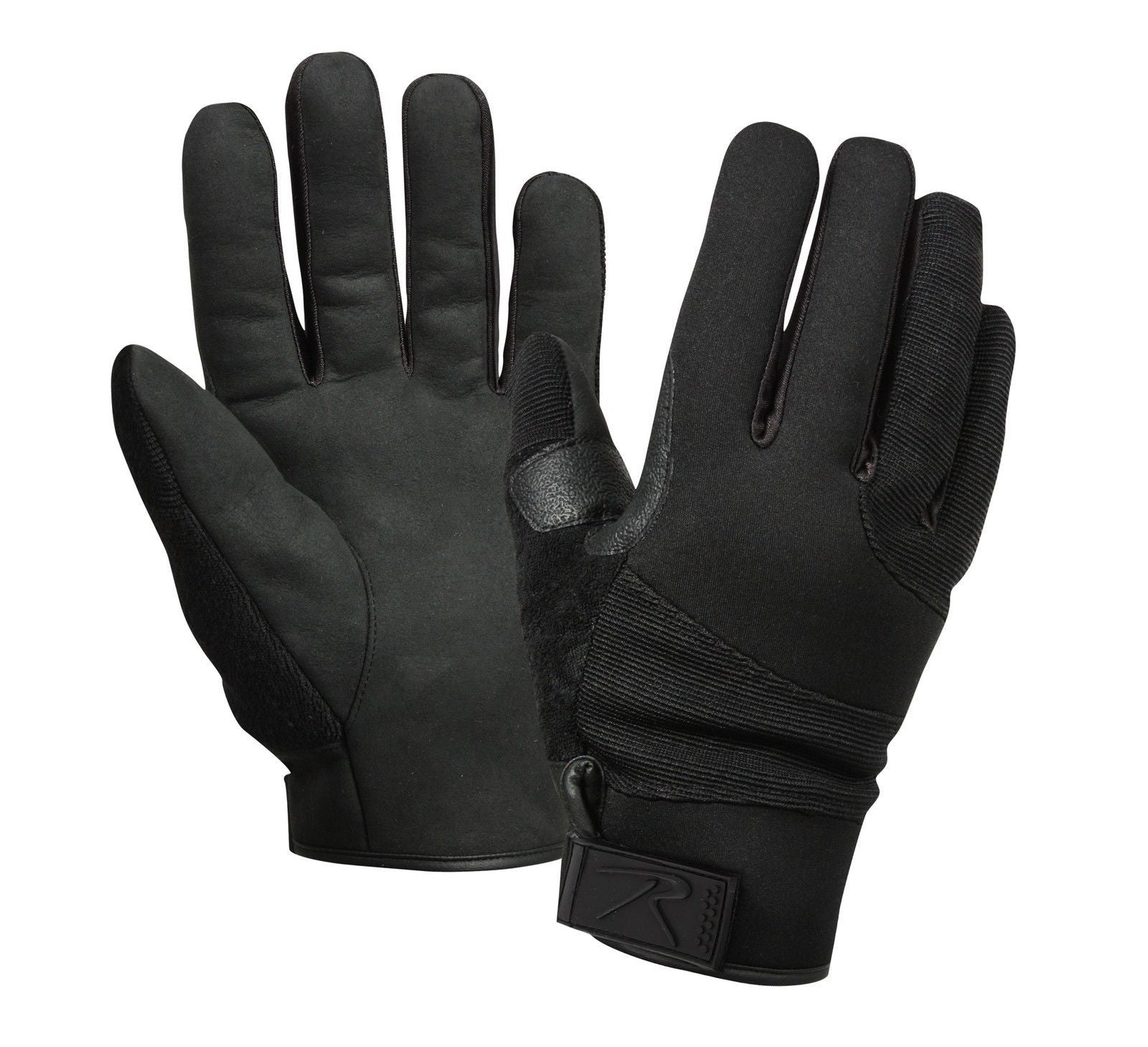 Black tactical gloves - Cold Weather Street Shield Cut Resistant Black Tactical Gloves