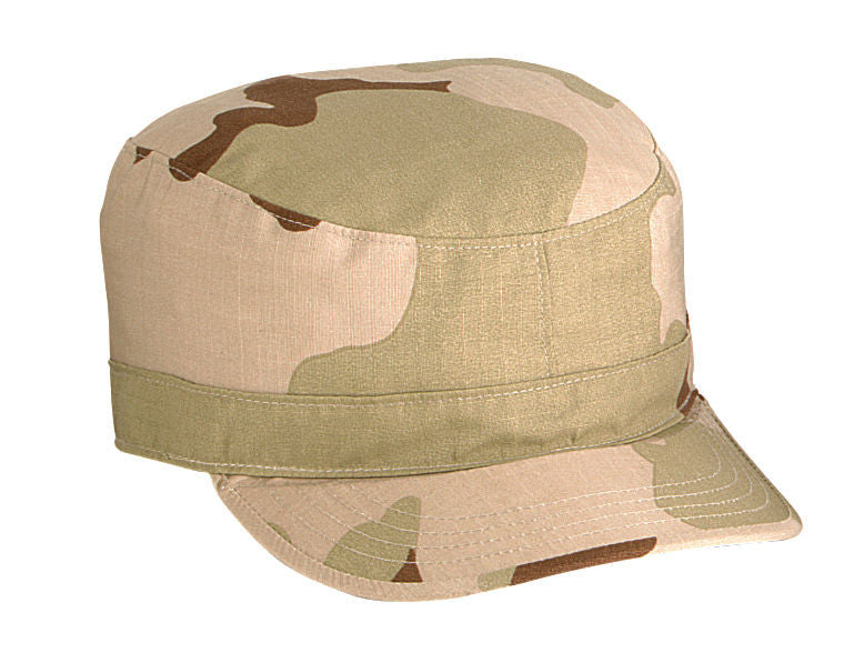 Men s Military Style Caps - Camo Rip-Stop Cotton Fatigue Cap Fitted ... eecd27dac498