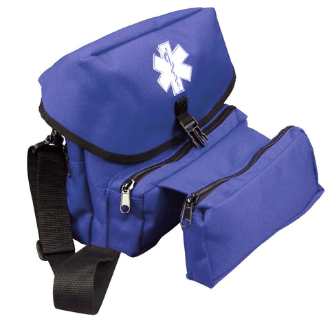 Blue E.M.T. Kit Bag - Navy EMT Medical Emergency Field Bag w/ Star of Life