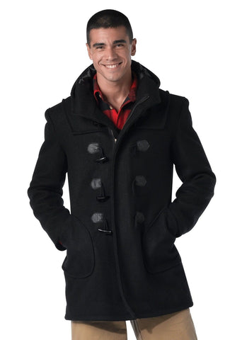 Black Wool Navy Duffle Coat - Trendy Peacoat Style Great For Fall & Winter XS-3X