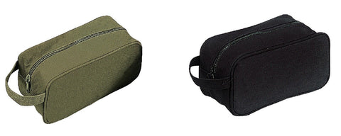Canvas Travel Shave Kit Bags - Military Style Toiletry Shaving Kit Bag